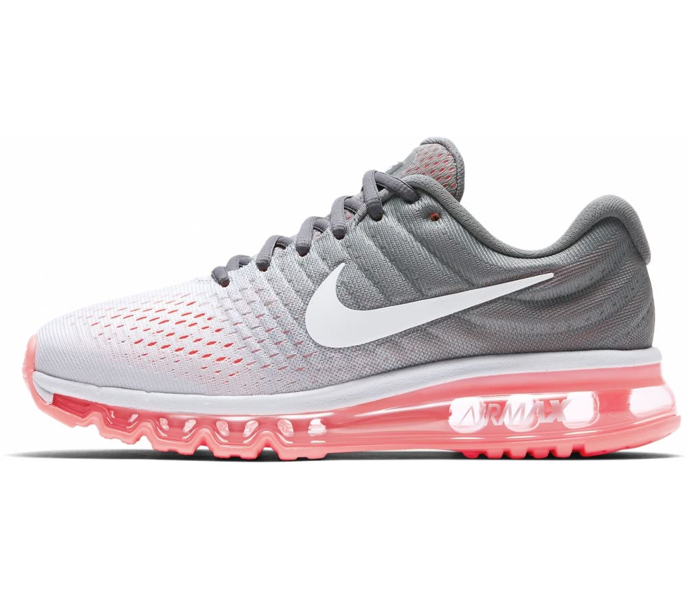 Nike - Air Max 2017 women's running shoes (white/coral)