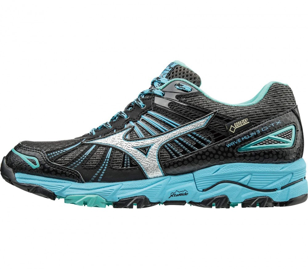 Mizuno - Wave Mujin 3 G-TX women's running shoes (dark grey/light blue)