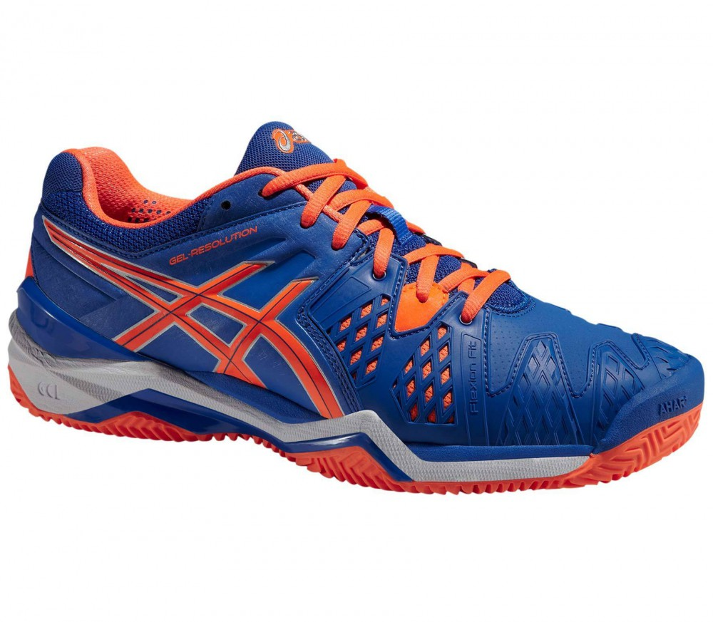 asics gel resolution 5 blue/orange/yellow mens shoes