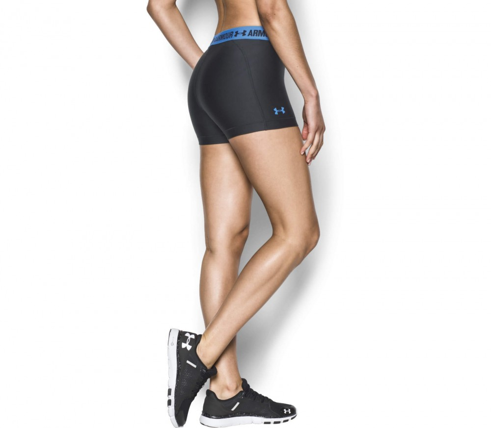 Under Armour - Heatgear Armour women's training shorts (black/blue)
