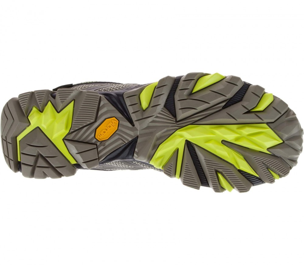 merrell moab fst mid gtx men 39 s hiking shoes green black buy it at the keller sports online. Black Bedroom Furniture Sets. Home Design Ideas