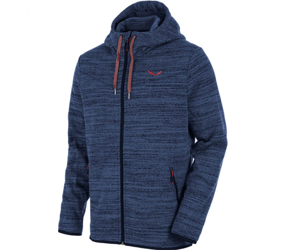 salewa fanes pl full zip hoody men 39 s knitted fleece jacket dark blue buy it at the keller. Black Bedroom Furniture Sets. Home Design Ideas