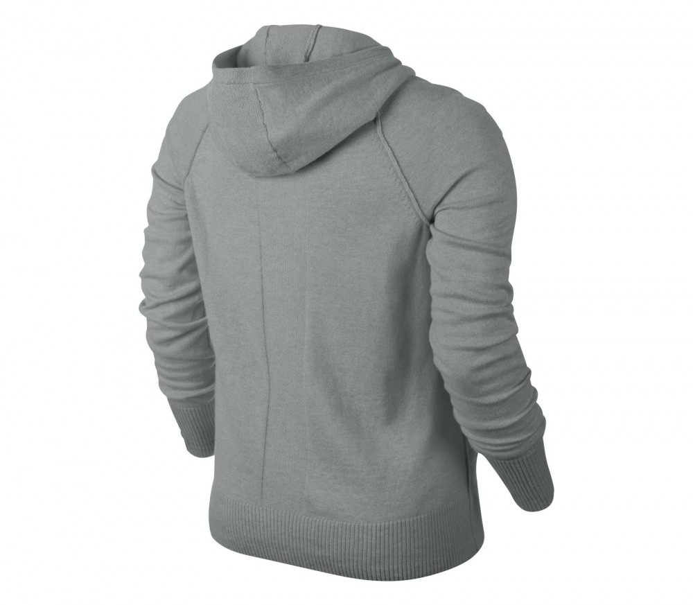 nike knit sweater women 39 s tennis jacket grey buy it at the keller sports online shop. Black Bedroom Furniture Sets. Home Design Ideas