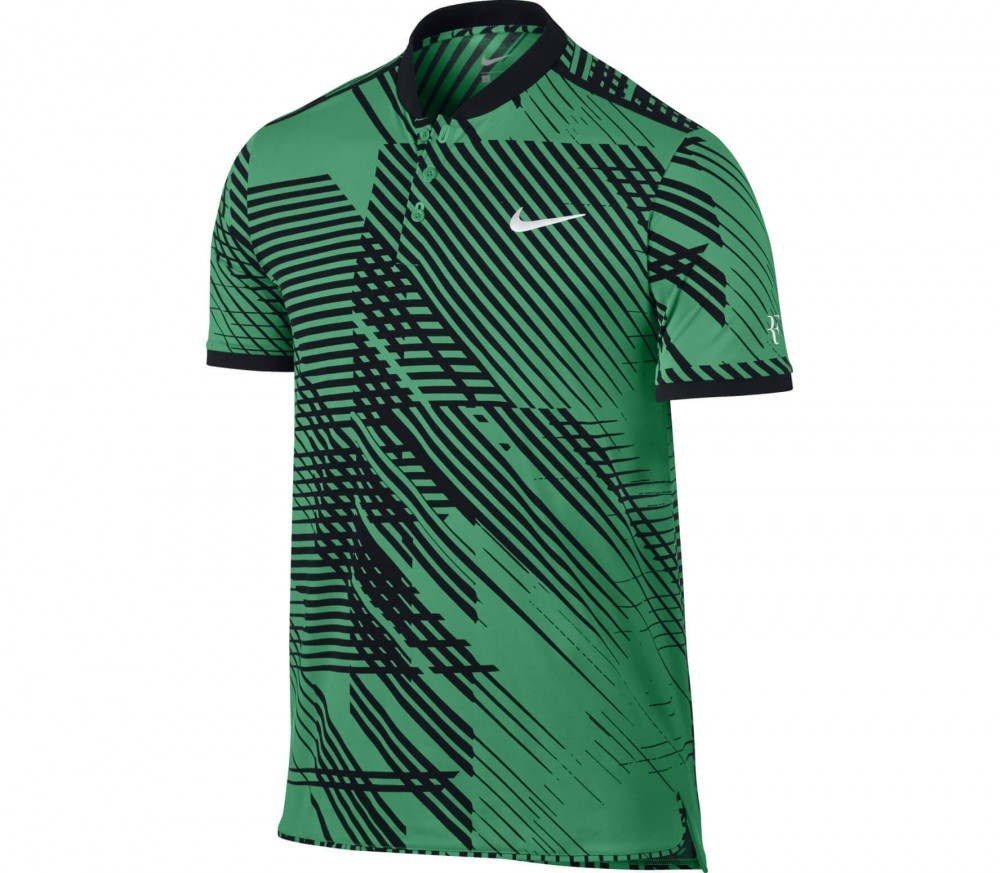 nike roger federer advantage men 39 s tennis polo green. Black Bedroom Furniture Sets. Home Design Ideas
