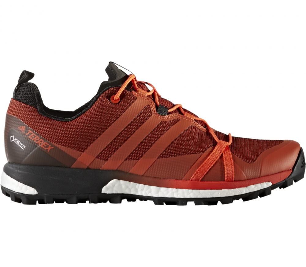 adidas Performance TERREX AGRAVIC GTX - Trail running shoes - red Fnahy