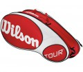 Wilson - Tour 6 Racket Bag red/white
