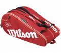 Wilson - Federer 15 pp Tennis Bag (red/white)