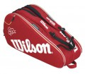 Wilson - Federer 9 pp Tennis Bag (red/white)