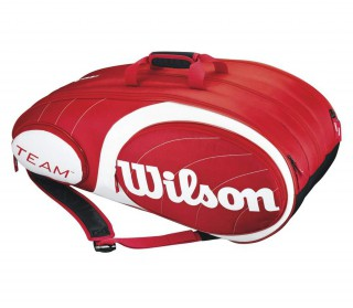 Wilson - Team 12 pp Tennis Bag (red/white)