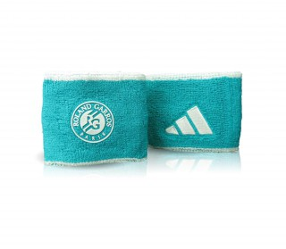 Adidas - Roland Garros Wristband Small - 2 pack (green/white)