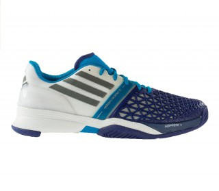 Adidas - Roland Garros Adizero Feather III Allcourt men's tennis shoes (white/purple )