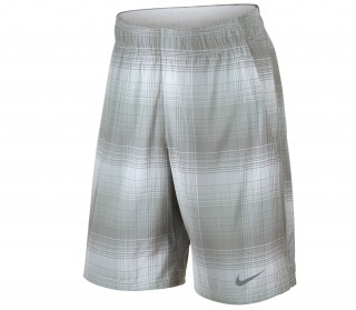 Nike - GLADIATOR 10 Plaid Shorts Men´s (white/grey)