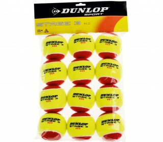 Dunlop - Tennis balls Stage 3 12 pp (red)
