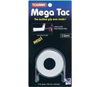 Unique - Tourna Mega Tac - 3 pieces  (white)