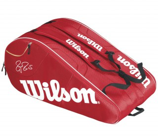 Wilson - Federer Team 12 pp Tennis Bag (red/white)