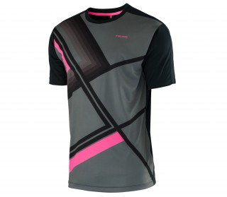 Head - Brandon men's tennis shirt (anthracite/black)