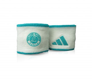 Adidas - Roland Garros Wristband Small - 2 pack (white/green)