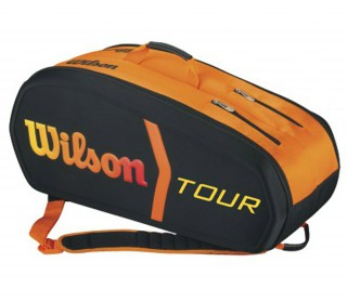 Wilson - Burn Molded 9er tennis bags (orange/black)