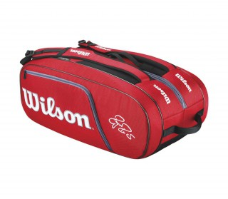 Wilson - Federer Elite 12er tennis bag (red/black)