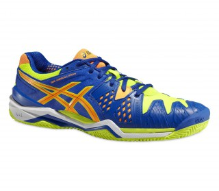 Asics - Gel-Resolution 6 Clay men's tennis shoes (blue/yellow)