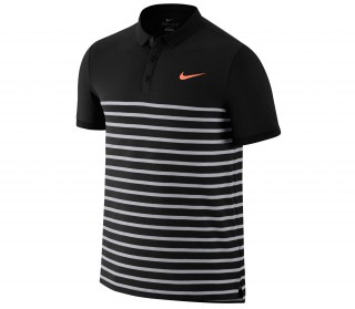 Nike - Nike Advantage DF Cool men's tennis polo shirt (black/red)