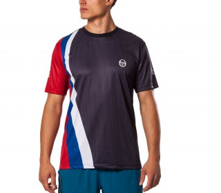 Sergio Tacchini - Barca men tennis shirt (dark blue)