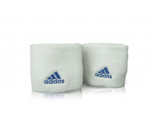 Adidas - Wristband Small - 2 pack (white/ blue)