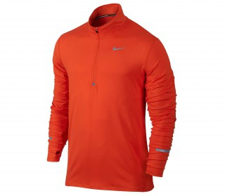 Nike - Dri-Fit Element Half Zip Herren Laufshirt (orange/silber)