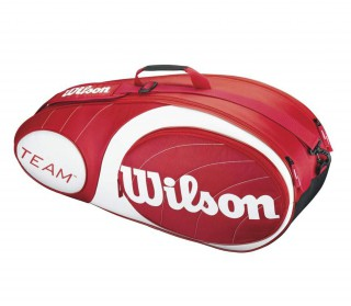 Wilson - Team 6 pp Tennis Bag (red/white)