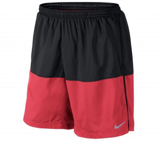 Nike - 7 inch Distance men's running shorts (black/yellow)