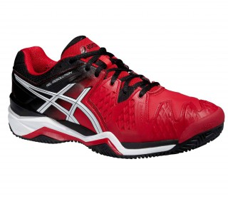 Asics - Gel Resolution 6 Clay men's tennis shoe (red)