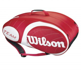Wilson - Team 9 pp Tennis Bag (red/white)