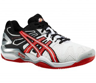 Asics - Gel-Resolution 5 Clay Men´s Tennis shoes (white/red)