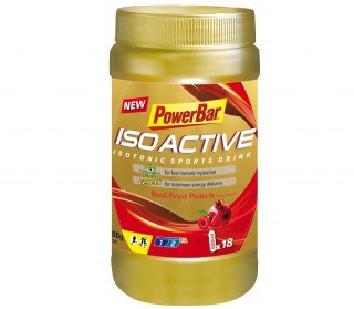 PowerBar - Isoactive Red Fruit Punch, 600 g can