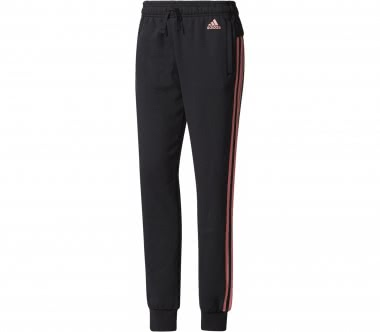 Adidas - Essential 3 Stripes women's training pants (black/pink)
