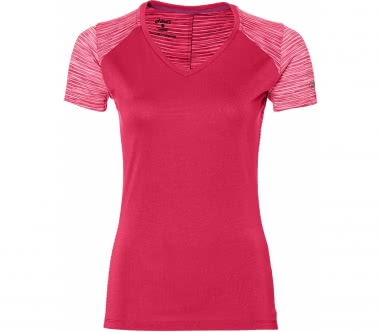 Asics - FuzeX V-Neck women's running top (pink)