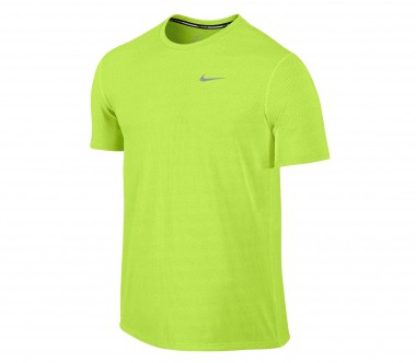 Nike - Dri Fit Contour Shortsleeve men's running top (light yellow)