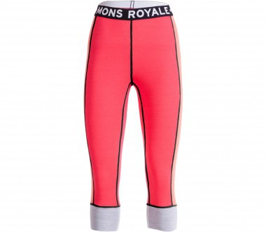 Mons Royale - Alagna 3/4 women's merino pants (orange/red)