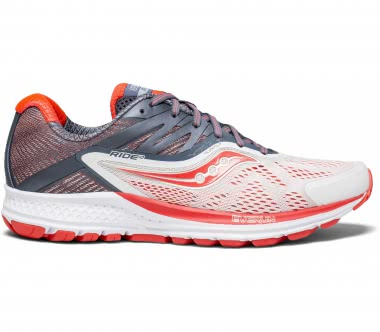 Saucony - Ride 10 women's running shoes (white/red)