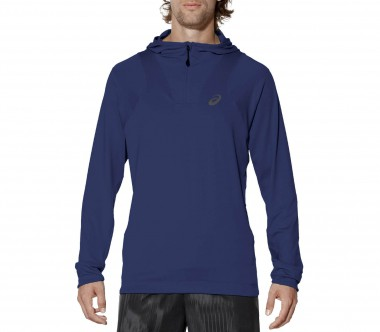 Asics - fuzeX men's Laufhoody (dark blue)