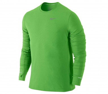 Nike - Dri Fit Contour long-sleeved men's running top (green)