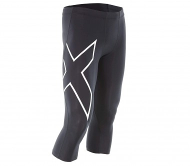2XU - TR2 3/4 Compression men's running pants (black/silver)