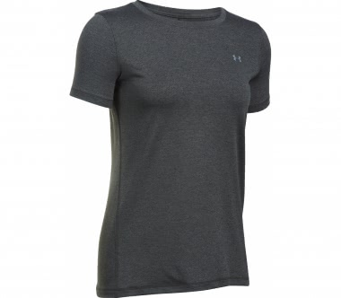 Under Armour - Heatgear Armour Shortsleeve Damen Trainingsshirt (grau)