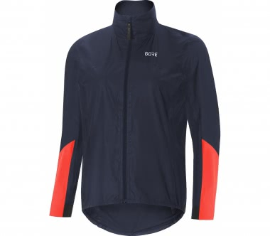 GORE® Wear - C7 Goretex Shakedry 1985 Viz women's bike jacket (dark blue/orange)