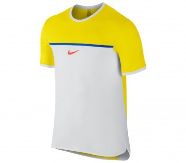 Nike - Rafa Nadal Challenger Premier Crew men's tennis top (yellow/white)