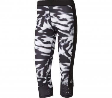 Adidas - Techfit capri pants Print 3 Women training pants (black/whiteß)