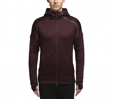 Adidas - ZNE Heat men's training hoodie (weinrot)