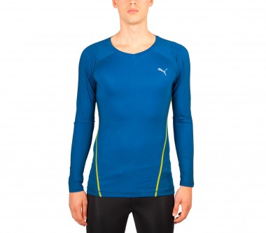 Puma - ACTV PWR long-sleeved men's training top (dark blue)