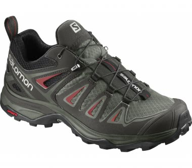 Salomon - X Ultra 3 women's hiking shoes (grey/red)