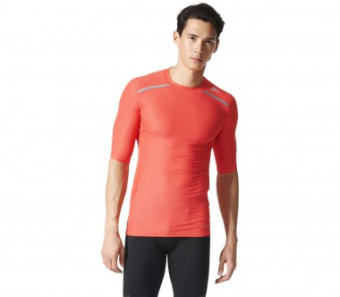 Adidas - Techfit Chill Shortsleeve men's training top (light red)